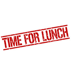 time for lunch stamp vector image