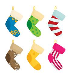 traditional christmas xmas colorful stocks set vector image