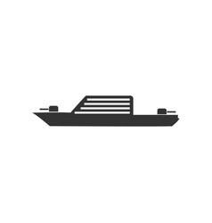 Warship icon flat vector