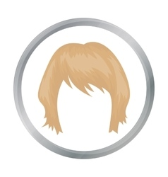 Woman s hairstyle icon in cartoon style isolated vector image
