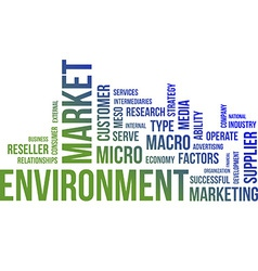 word cloud market environment vector image