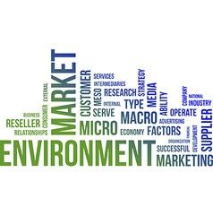 Word cloud market environment vector