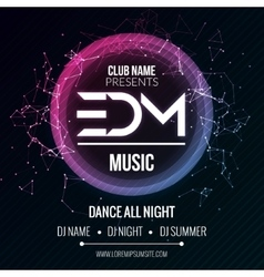 EDM Club Music Party Template Dance Party Flyer vector image vector image