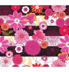 Floral Pink Stripe vector image vector image