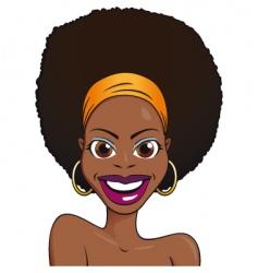 portrait African girl vector image