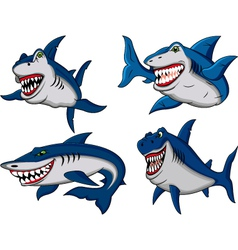 shark collection vector image
