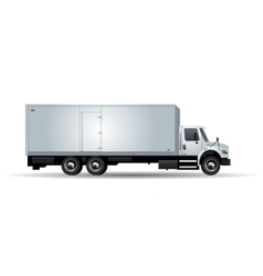 truck isolated on white background vector image vector image