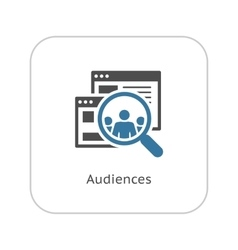 Audiences Icon Flat Design vector image