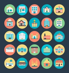 Buildings Icons 1 vector image