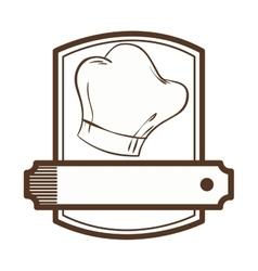 chef hat restaurant emblem vector image