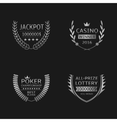 Gambling game labels vector image vector image