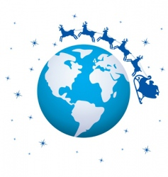 global Christmas background vector image vector image