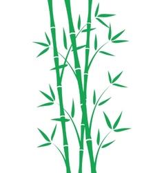 Green bamboo stems vector image