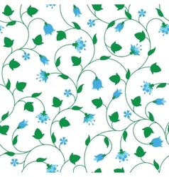 Seamless floral pattern with tiny blue flowers vector image vector image