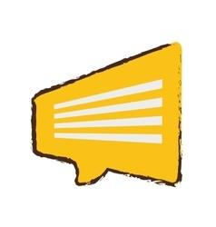 Yellow bubble speech dialogue talk sketch vector
