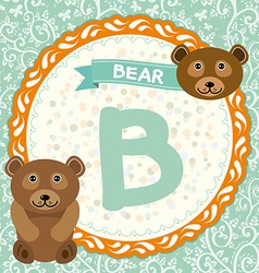 ABC animals B is bear Childrens english alphabet vector image vector image