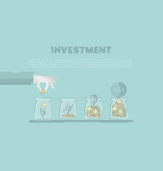 Accumulation of capital saving of funds growing vector