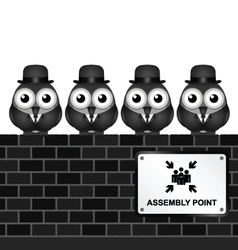 Assembly Point vector image vector image