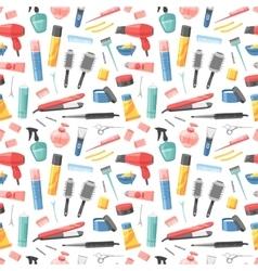 Hairdresser seamless pattern vector image