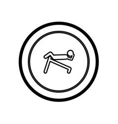 symbol person do exercise gym vector image vector image