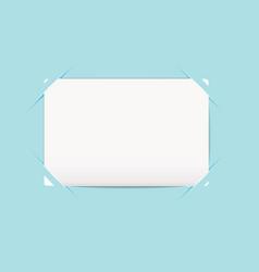 business card blue holder vector image vector image