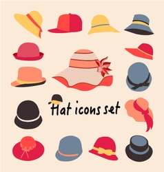collection of hats for men and women vector image vector image