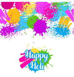 happy holi colorful seamless pattern grunge vector image