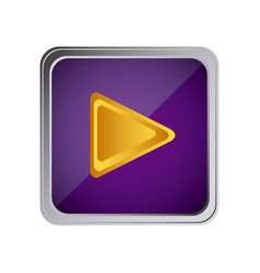 play button icon with background purple vector image vector image