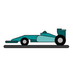 Race car flat vector