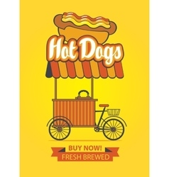 tray selling hot dogs vector image vector image