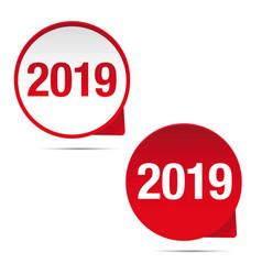 2019 sign bubble vector