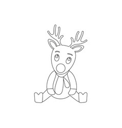 a deer the christmas icon holiday day vector image
