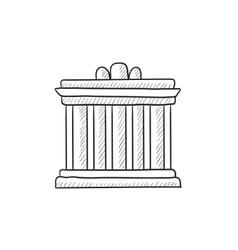Acropolis athens sketch icon vector
