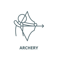 archery line icon linear concept outline vector image