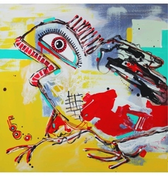 art composition of crazy bird vector image
