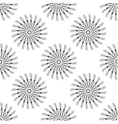 beautiful seamless pattern with snowflake circle vector image