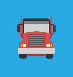 big truck icon set of great flat icons for vector image