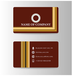 Business card background design with logo vector