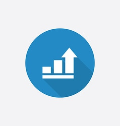 Business diagram chart Flat Blue Simple Icon with vector