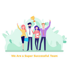 business success winners collaboration vector image