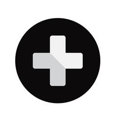 button plus icon vector image