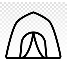 Camping tent at outdoor camp - flat icon for apps vector