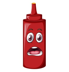 Cartoon Tomato Sauce Bottle vector