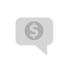 chat bubble with dollar sign vector image