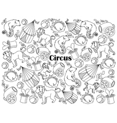 Circus colorless set vector