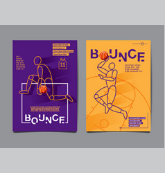 collection basketball layout design sport vector image