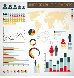 Collection of infographics vector