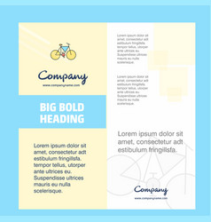 cycle company brochure title page design company vector image