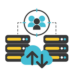 database server cloud computing connection data vector image