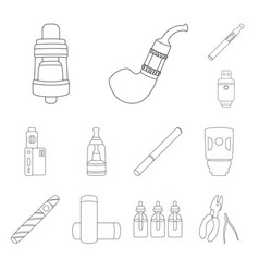 Design nicotine and filter icon set of vector
